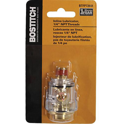 Bostitch BTFP72641 In-Line Lubricator with 1/4 in. NPT Male Thread