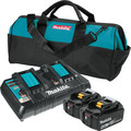Makita BL1850B2DC2X 18V LXT Lithium-Ion Battery and Dual Port Charger Starter Pack (5.0Ah)