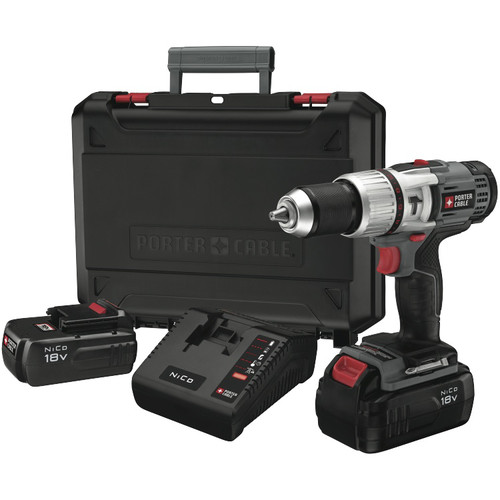 Factory Reconditioned Porter-Cable PC180CHDK-2R Tradesman 18V Cordless Hammer Drill Kit