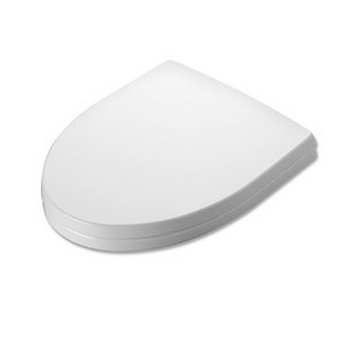TOTO SS214#01 SoftClose Soiree Elongated Plastic Closed Front Toilet Seat & Cover (Cotton White)