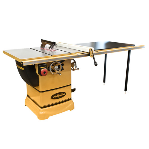 Powermatic PM1000 1-3/4 HP 10 in. Single Phase 115V Left Tilt Table Saw with 52 in. Accu-Fence System