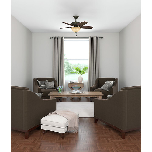 Hunter 52218 42 in. Builder Small Room New Bronze Ceiling Fan with Light image number 11