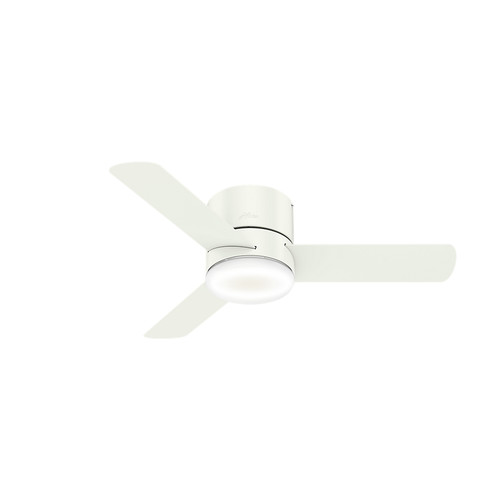 Hunter 59452 44 in. Minimus Ceiling Fan with Remote and LED Light Kit (Fresh White) image number 0