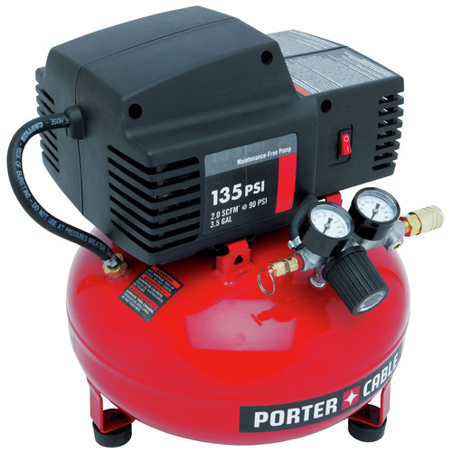 Factory Reconditioned Porter-Cable PCFP02003R 135 PSI 3.5 Gallon Oil-Free Pancake Compressor image number 3