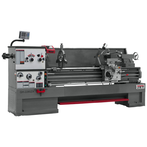 JET GH-2680ZH 4-1/8 in. Lathe with Newall DP700 DRO and Taper Attachment