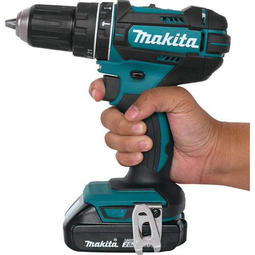 Makita XPH10R 18V Lithium-Ion Compact Variable 2-Speed 1/2 in. Cordless Hammer Drill Driver Kit (2 Ah) image number 2