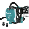 Makita XCV10ZX 18V X2 LXT Lithium-Ion (36V) Brushless 1/2 Gallon HEPA Filter AWS Capable Backpack Dry Dust Extractor (Tool Only) image number 0