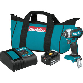 Makita XDT131 18V LXT 3.0 Ah Cordless Lithium-Ion Brushless Impact Driver Kit image number 0