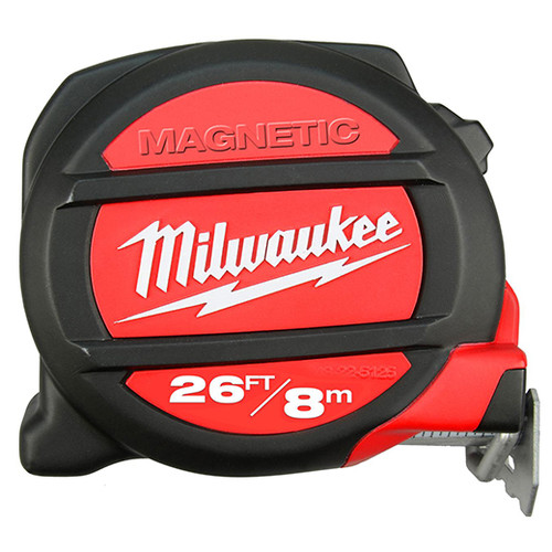 Milwaukee 48-22-5225 26 ft. (8m) Standard/Metric Magnetic Tape Measure