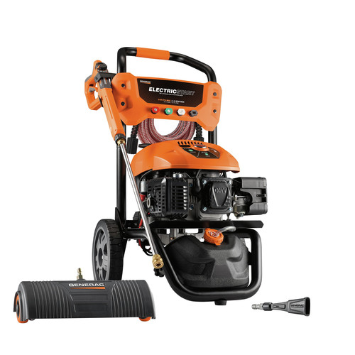 Generac 7143 3100 PSI/ 2.5 GPM Gas Pressure Washer Kit Li-Ion Electric Start with PowerDial Spray Gun, 30 ft. Ultra Flex Hose and 4 Nozzles image number 0