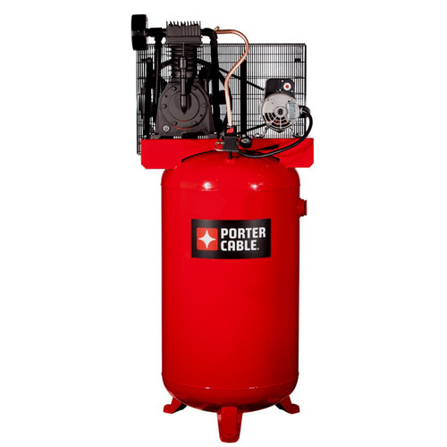 Porter-Cable PXCMV5048055 5 HP 80 Gallon TOPS Two Stage Oil-Lube Industrial Air Compressor