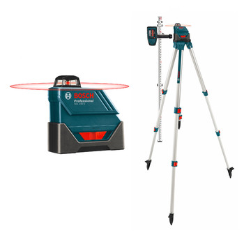 Factory Reconditioned Bosch GLL150ECK-RT Self-Leveling 360-Degree Exterior Laser with LD3 Detector