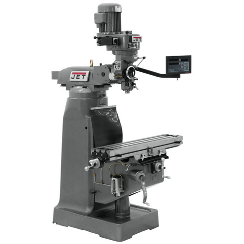 JET JTM-2 Mill with NEWALL DP700 3-Axis Quill DRO