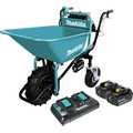 Makita XUC01PTX1 18V X2 LXT Brushless Cordless Power-Assisted Hand Truck/Wheelbarrow Kit with Bucket (5.0Ah)