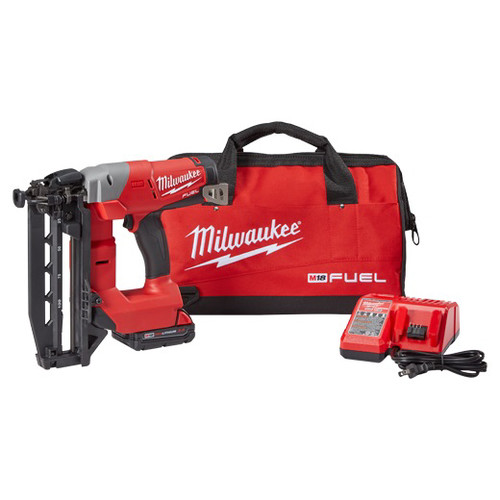 Milwaukee 2741-21CT FUEL M18 18V Cordless Lithium-Ion 16-Gauge Brushless Straight Finish Nailer Kit