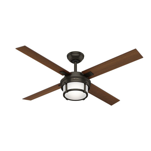 Hunter Capshaw 60 Premier Bronze Ceiling Fan With Light: Hunter 59317 52 In. Maybeck Premier Bronze Ceiling Fan