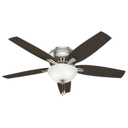 Hunter 53315 52 in. Newsome Brushed Nickel Ceiling Fan with Light image number 0