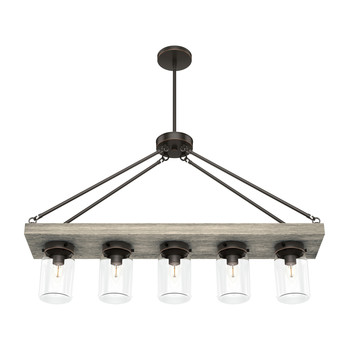 Hunter 19006 Devon Park Onyx Bengal 5-Light Rectangle Chandelier