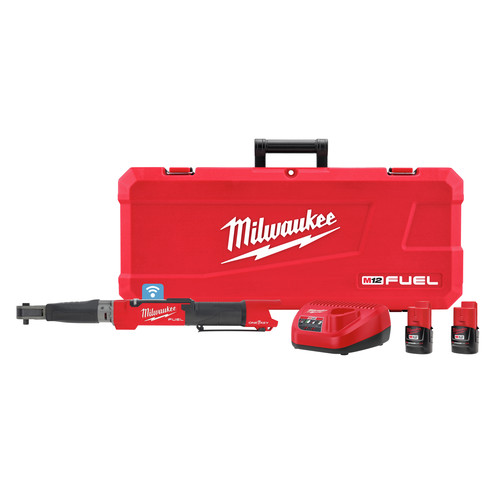Milwaukee 2465-22 M12 FUEL Cordless Lithium-Ion 3/8 in. Digital Torque Wrench Kit with ONE-KEY (2 Ah) image number 0