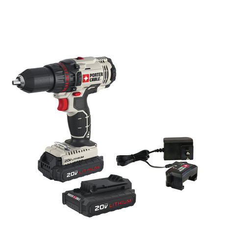 Porter-Cable PCC601LB 20V MAX 1.3 Ah Cordless Lithium-Ion 1/2 in. Drill Driver Kit