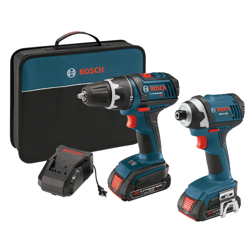 Factory Reconditioned Bosch CLPK234-181-RT 18V Cordless Lithium-Ion 1/2 in. Drill Driver and Impact Driver Combo Kit