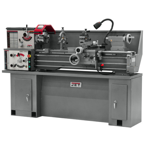 JET GHB-1340A 13 in. x 40 in. 2 HP 1-Phase Geared Head Bench Lathe image number 0