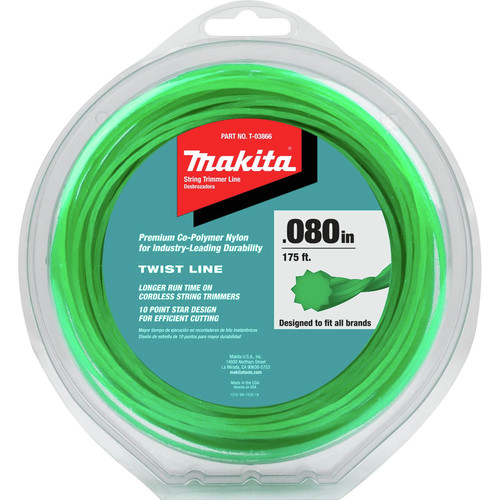 Makita T-03866 0.080 in. 175 ft. Twisted Trimmer Line - Green image number 0