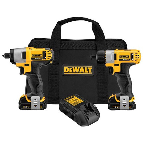 Factory Reconditioned Dewalt DCK210S2R 12V MAX Cordless Lithium-Ion 1/4 in. Impact Driver and Screwdriver Combo Kit