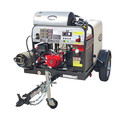 Simpson 95005 Trailer 4000 PSI 4.0 GPM Hot Water Mobile Washing System Powered by HONDA image number 0