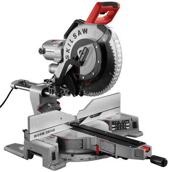 SKILSAW SPT88-01 15 Amp Dual Bevel 12 in. Corded Worm Drive Sliding Miter Saw