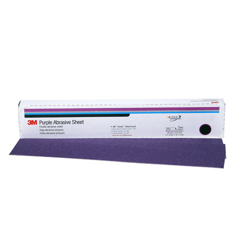 3M 1864 2-3/4 in. x 16-1/2 in. 150 Grade Purple Hookit File Sheet
