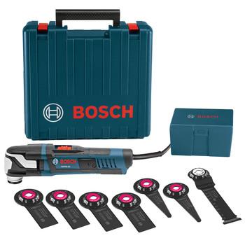 Bosch GOP55-36C1 5.5 Amp StarlockMax Oscillating Multi-Tool Kit with 8-Piece Accessory Kit