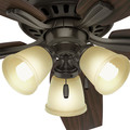 Hunter 53317 52 in. Newsome Premier Bronze Ceiling Fan with Light image number 7