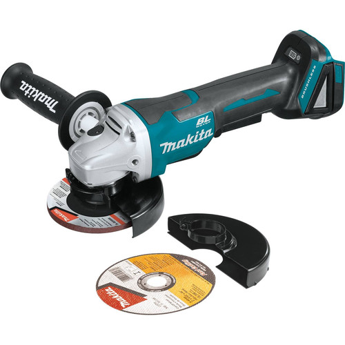 Makita XAG11Z 18V LXT Lithium-Ion Brushless Cordless 4-1/2 / 5 in. Paddle Switch Cut-Off/Angle Grinder with Electric Brake (Tool Only) image number 0