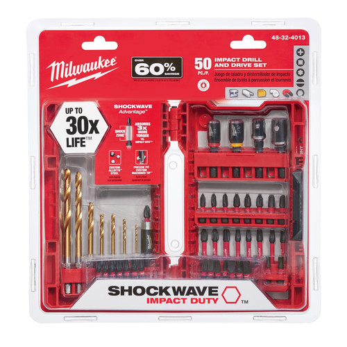 Milwaukee 48-32-4013 50-Piece Shockwave Impact Duty Driver Bit Set