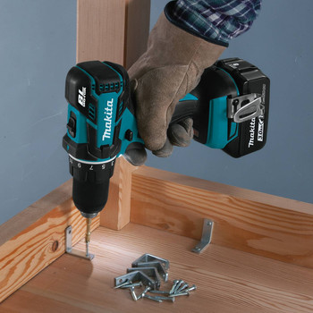 Makita XFD061 18V LXT Lithium-Ion Brushless Compact 1/2 in. Cordless Drill Driver Kit (3 Ah) image number 5