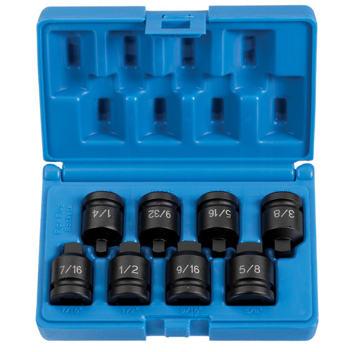 Grey Pneumatic 1308P 1/2 in. Drive 8-Piece Pipe Plug Socket Set image number 0