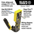 Klein Tools VDV226-110 Ratcheting Cable Crimper/Stripper/Cutter for Pass-Thru Connectors image number 9