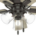 Hunter 52153 42 in. Crestfield Noble Bronze Ceiling Fan with Light image number 9