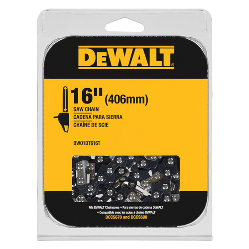 Dewalt DWO1DT616T 16 in. Chainsaw Replacement Chain image number 0