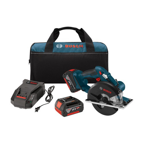 Factory Reconditioned Bosch CSM180-01-RT 18V Cordless Lithium-Ion 5-3/8 in. Metal Cutting Circular Saw Kit image number 0