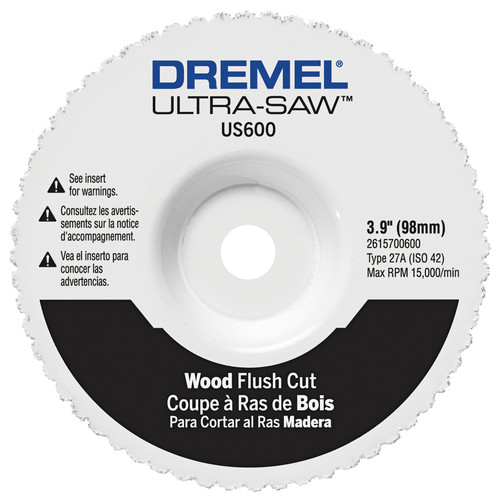 Dremel US600-01 4 in. Wood Flush Cut Wheel