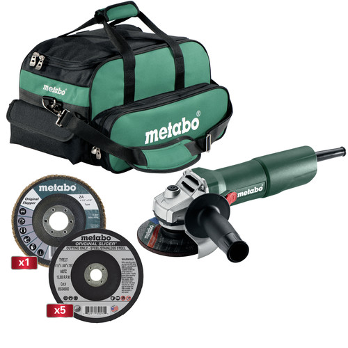 Metabo US3003 4-1/2 in. Angle Grinder Heavy Duty Starter Kit - W750, Slicers and Flapper image number 0