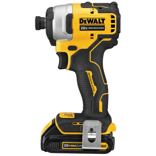 Dewalt DCF809C1 ATOMIC 20V MAX 1/4 in. Brushless Compact Impact Driver Kit image number 2