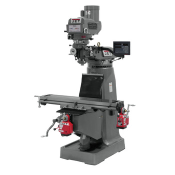 JET JTM-4VS Mill with 3-axis NEWALL DP700 DRO Quill X and Y Powerfeed