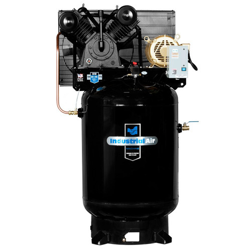 Industrial Air IV9969910 10 HP 460V 120 Gallon Baldor Powered Vertical Commercial Air Compressor image number 0