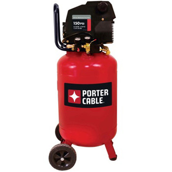 Porter-Cable PXCMF220VW 1.5 HP 20 Gallon Oil-Free Vertical Dolly Air Compressor