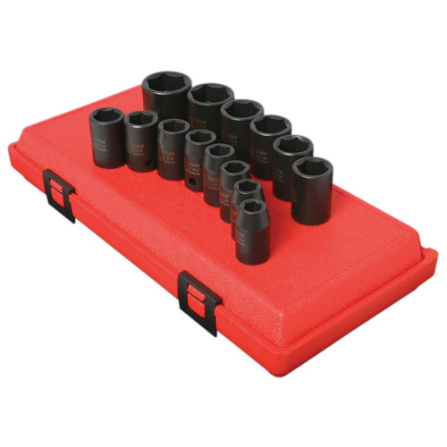 Sunex 2652 14-Piece 1/2 in. Drive Metric Impact Socket Set image number 0