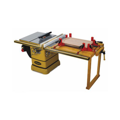 Powermatic PM2000 5 HP 10 in. Three Phase Left Tilt Table Saw with 50 in. Accu-Fence, Workbench and Riving Knife