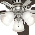 Hunter 53318 52 in. Newsome Brushed Nickel Ceiling Fan with Light image number 7